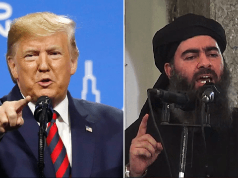 Crowd laughs as Donald Trump says 'coward' Isis leader is 'as dead as a door nail'