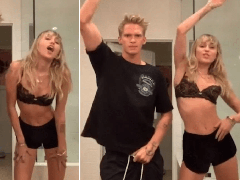 Miley Cyrus and boyfriend Cody Simpson perfectly in sync for TikTok dance routine