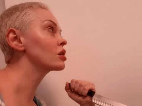 Rose McGowan pays homage to Mia Farrow on Halloween in Rosemary's Baby costume