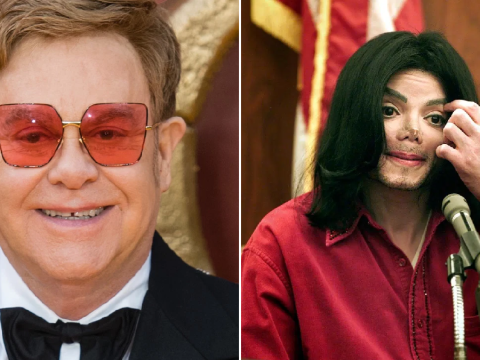 What did Elton John reportedly say about Michael Jackson is his new book?