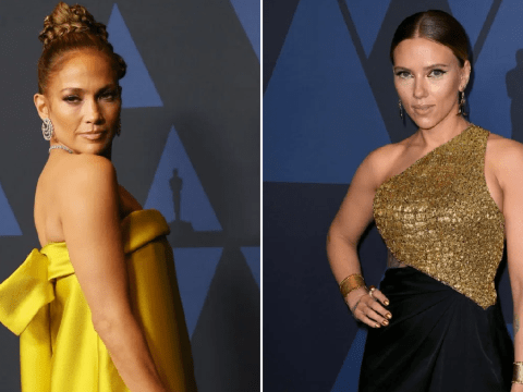 Jennifer Lopez and Scarlett Johansson glow in gold at Governors Awards and we are not worthy