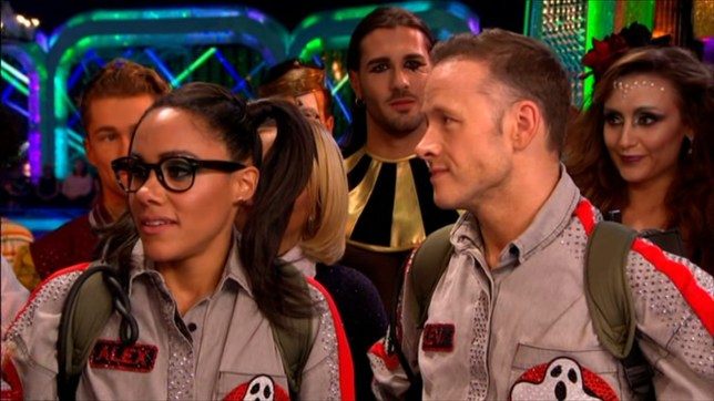 Alex Scott and Kevin Clifton