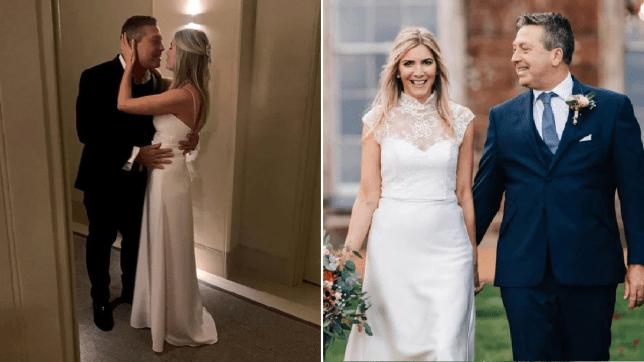 Lisa Faulkner S Second Wedding Dress Revealed After John