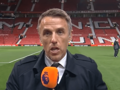 Phil Neville claims Ole Gunnar Solskjaer made one mistake in Manchester United's draw with Liverpool