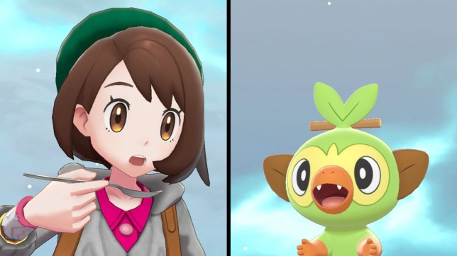 Pokémon Sword/Shield trainer with a spoon and scared looking pokémon