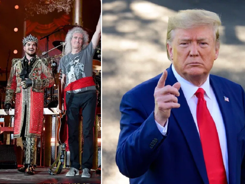Queen want their hit We Will Rock You removed from President Donald Trump's new campaign video