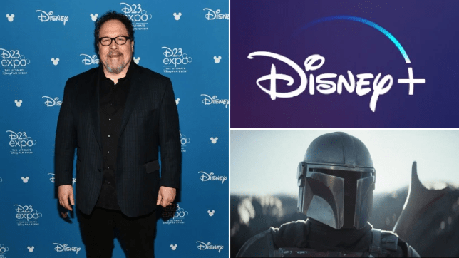 Jon Favreau, Disney logo, Mandalorian character