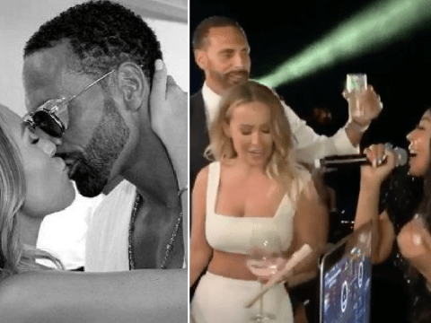 Rio Ferdinand surprises Kate Wright by getting Ashanti to perform at their wedding and we're shook