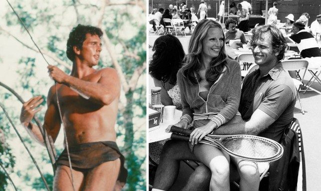 Ron Ely as Tarzan and Ron Ely with his late wife Valerie