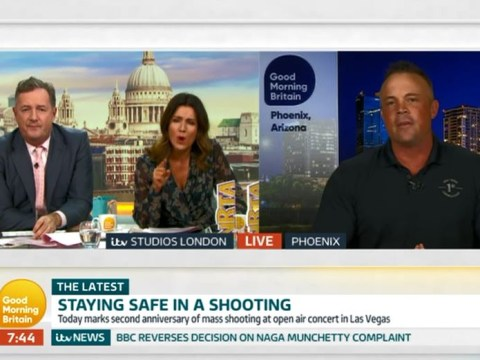 Susanna Reid lashes out at guest for 'interrupting' in tense gun control live TV debate