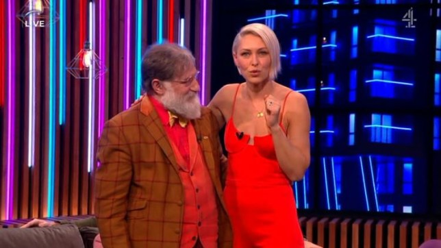 A photo of Tim Wilson and Emma Willis from Channel 4 series The Circle