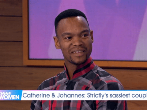 Strictly's Johannes Radebe tears up and thanks mum for helping him survive homophobic bullies