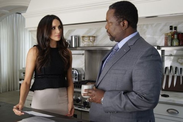Meghan Markle and Wendell Pierce in Suits