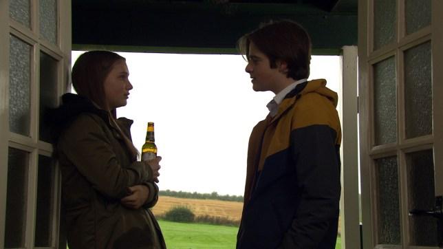Sarah Sugden and Danny in Emmerdale