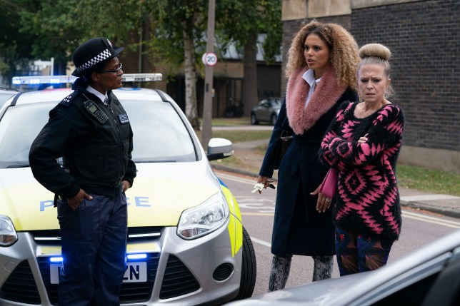 Linda Carter and Chantelle Atkins in EastEnders