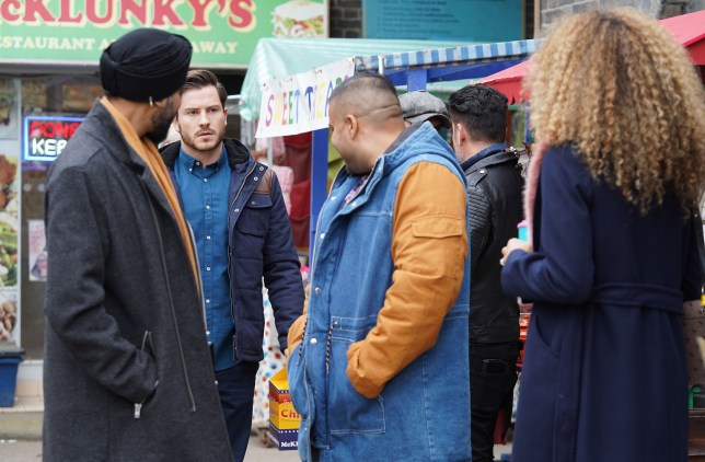 Jags and Kheerat Panesar, Chantelle and Gray Atkins in EastEnders