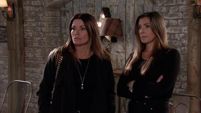 Carla and Michelle in Coronation Street