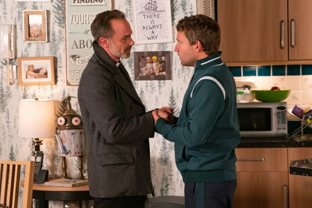 Billy Mayhew and Paul Foreman in Coronation Street