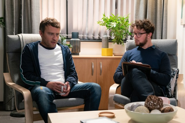 Paul Foreman and Andy in Coronation Street