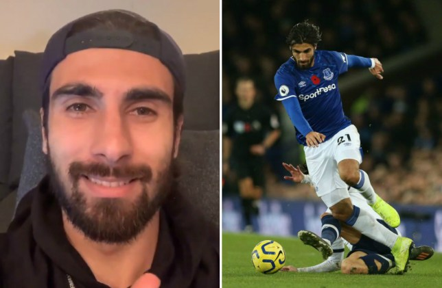 Everton's Andre Gomes sends message to fans after ankle surgery
