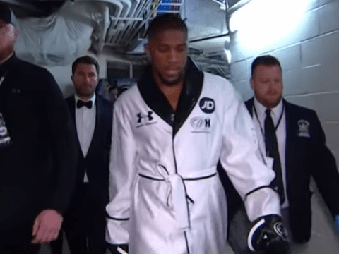 What Anthony Joshua whispered to himself during ring-walk for Andy Ruiz Jr fight