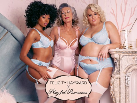 Plus-size model Felicity Hayward releases lingerie range with Playful Promises in over 70 bra sizes