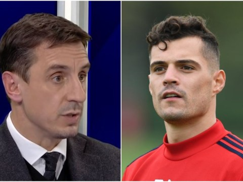 Gary Neville slams Granit Xhaka and says he has a 'real problem' with the Arsenal captain