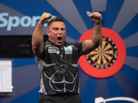 Gerwyn Price defends Grand Slam of Darts title in stunning thrashing of Peter Wright