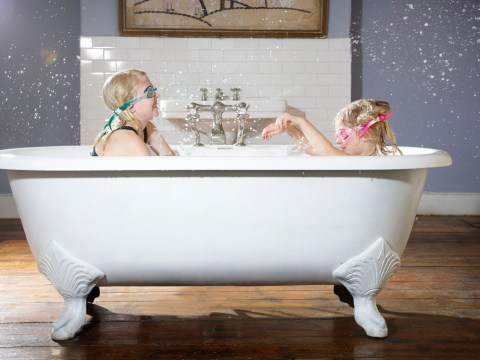 How often are children supposed to have a bath or shower?