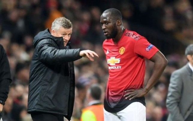 Romelu Lukaku was unhappy after Ole Gunnar Solskjaer played him on the right for Manchester United
