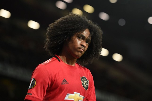Tahith Chong in action for Manchester United