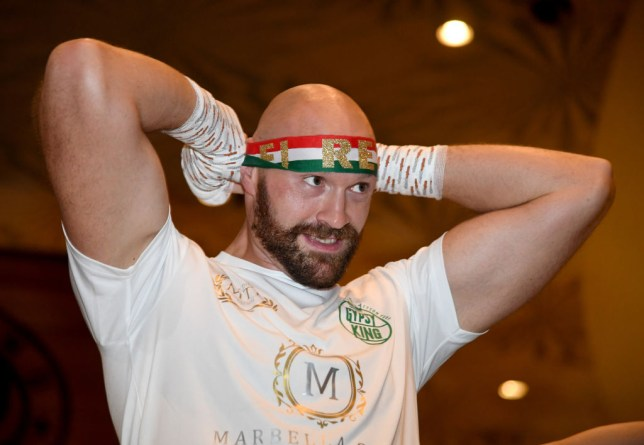 Heavyweight boxer Tyson Fury