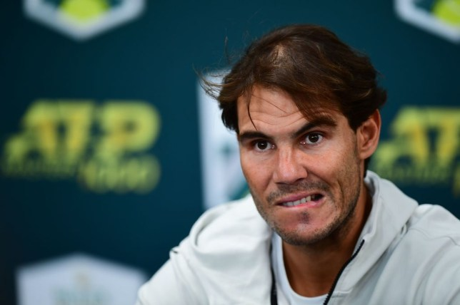 Rafael Nadal speaks to the media after withdrawing from the Paris Masters with injury