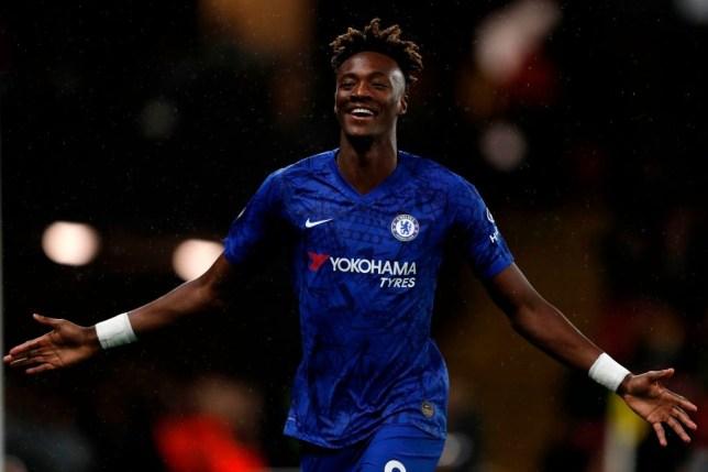 Tammy Abraham celebrates scoring for Chelsea against Watford