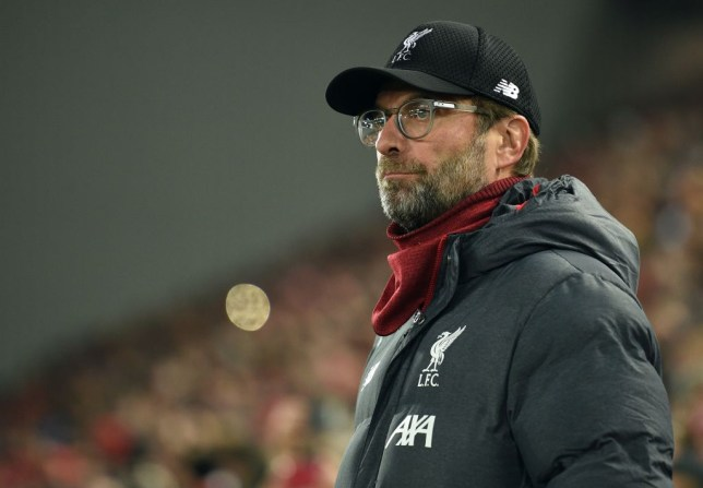 Jurgen Klopp looks on during Liverpool's Champions League clash with Genk