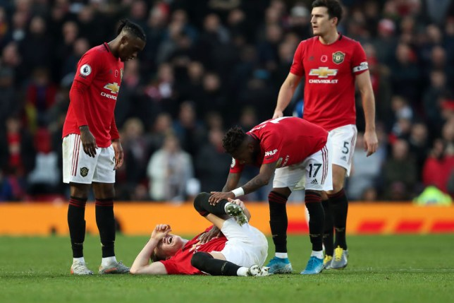 Scott McTominay had to be stretchered off against Brighton