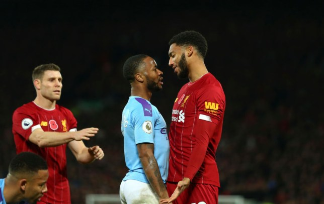 Raheem Sterling and Joe Gomez clash again as Liverpool vs Man City bust-up spills over into England training