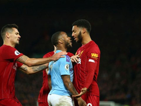 Man Utd legend Gary Neville reacts to Raheem Sterling-Joe Gomez clash