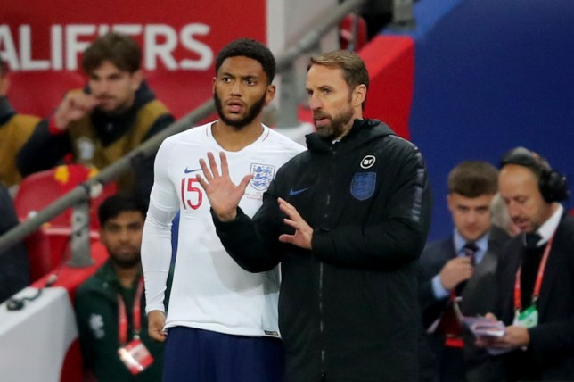 Joe Gomez and Gareth Southgate