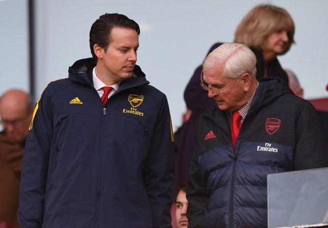 Arsenal chairman Sir Chips Keswick and Josh Kroenke