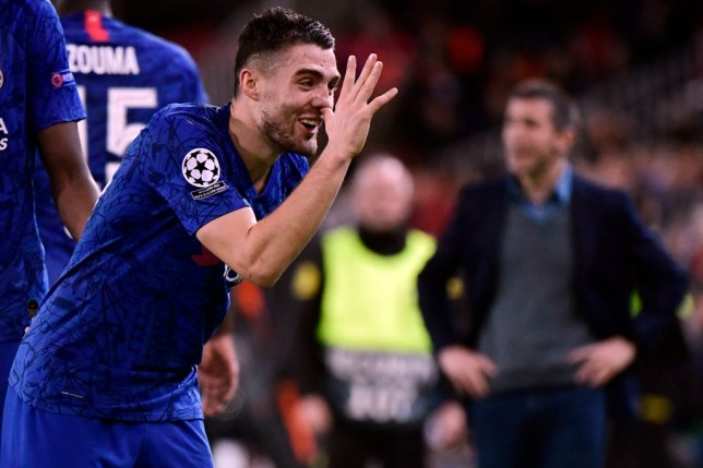 Mateo Kovacic after scoring his first ever Chelsea goal during the side's draw with Valencia in the Champions League