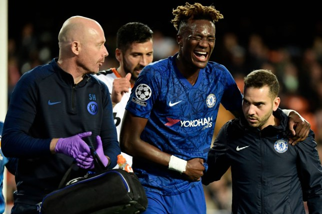 Chelsea striker Tammy Abraham suffered an injury during the Champions League clash at Valencia