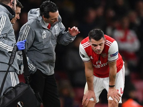 Unai Emery praises Granit Xhaka's performance and thanks fans for 'helping' Arsenal midfielder