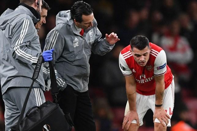 Unai Emery was pleased with Granit Xhaka's display in Arsenal's defeat to Eintracht Frankfurt