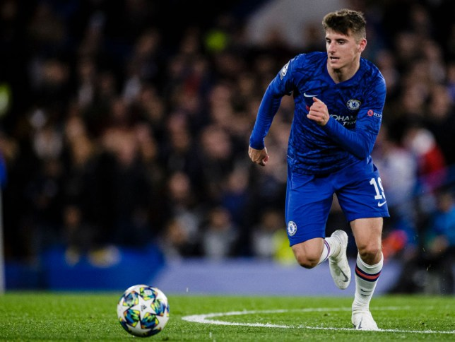 Mason Mount races after the ball during a Chelsea game