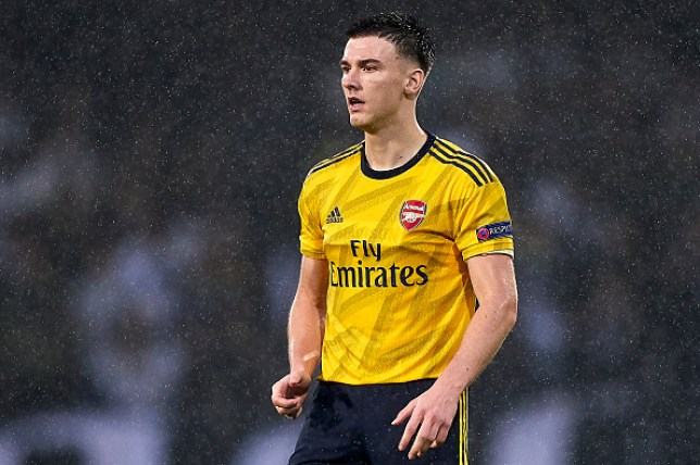 Kieran Tierney completed 90 minutes as Arsenal drew 1-1 with Vitoria last night