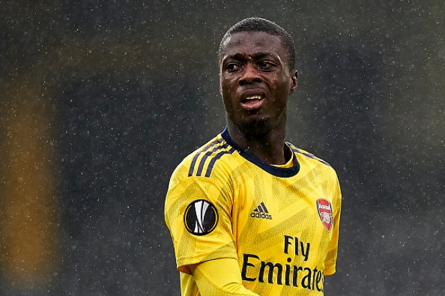 Nicolas Pepe played 90 minutes against Vitoria in midweek as Arsenal drew 1-1