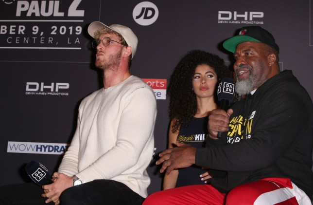 Shannon Briggs with Logan Paul before KSI fight