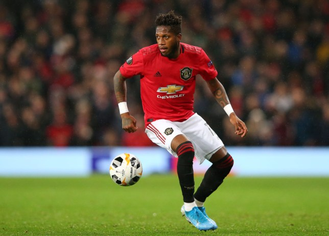 Fred playing for Man Utd