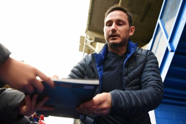 Frank Lampard's Chelsea are currently third in the Premier League table